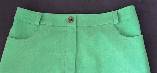 Как пришить боковой карман к юбке