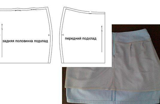Как сделать выкройку подкладки к юбки