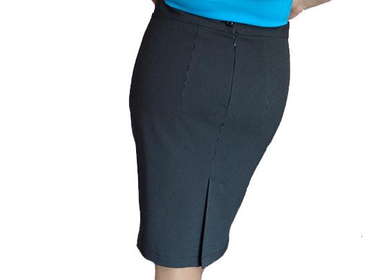 Потайная застежка на юбке с поясом