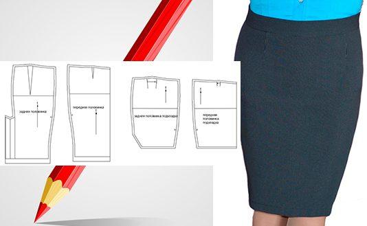 3af5ab650cf3527 Моделирование юбки-карандаш на выкройке основы в Автокад — женственный  вариант прямой юбки