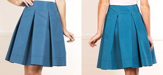 Подклад юбки складки