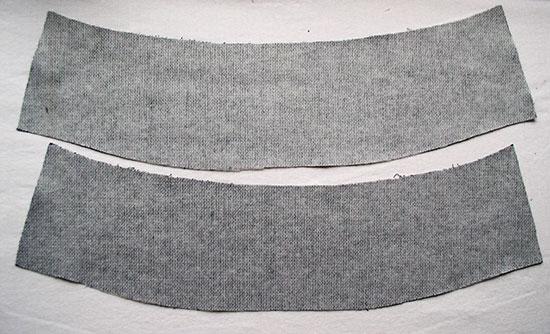 Обработка кокеток на юбке
