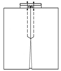 Построение юбки с встречными складками