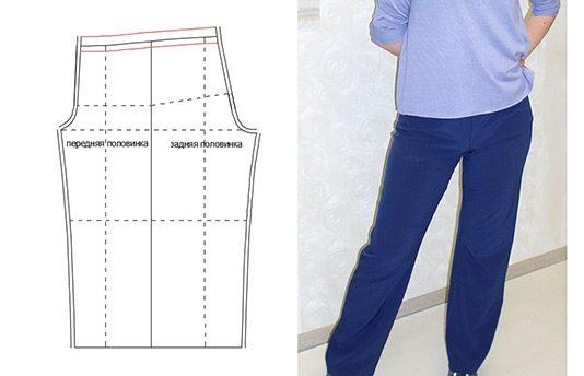 5f5317871582b0e Привет. Было дело, я выкладывала как построить выкройку женских штанов на  резинке без бокового шва. Это здесь. Недавно я нашла таблицы типовых  женских ...