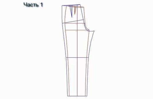 Выкройка модных женских брюк | 347x534
