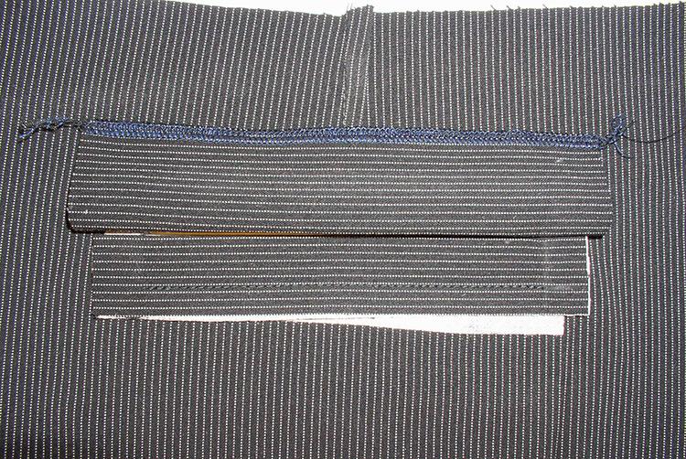 Как правильно сшить прорезные карманы с листочками 34