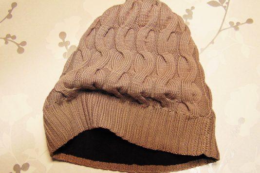 как сшить подклад из флиса для шапки