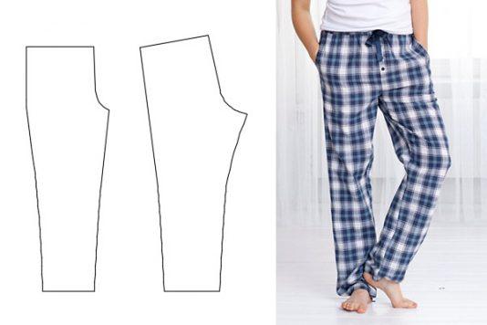 3f8870d33ffa Выкройки мужских пижамных штанов. Размеры 44 — 60