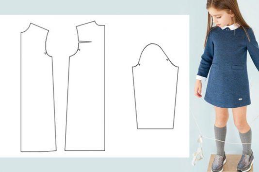 Выкройка платья на 1 5 года в натуральную величину