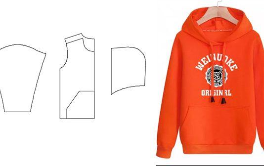 3c0142f1 Здесь можно скачать выкройку толстовки с капюшоном и карманом кенгуру. Все  размеры построены на рост 168 см, различаются шириной.
