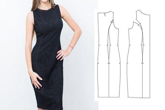 09c3be4b6 Платье футляр, моделирование выкройки