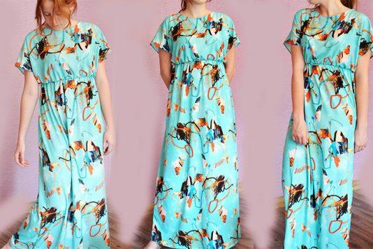7861e0054b7 Привет. Чем хороши летние платья — так это расцветкой. Можно сшить мешок с  прорезями