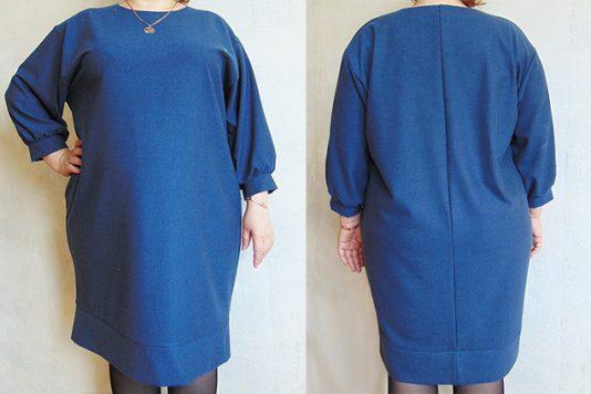 44313cc0857 Для платья моей подруги мы взяли готовую базовую выкройку для трикотажа  свободной формы (в файлах по две бк  нормального облегания и свободного).