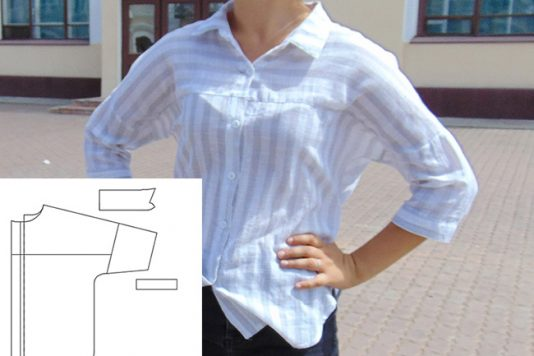 Как сделать выкройку для женской рубашки фото 118