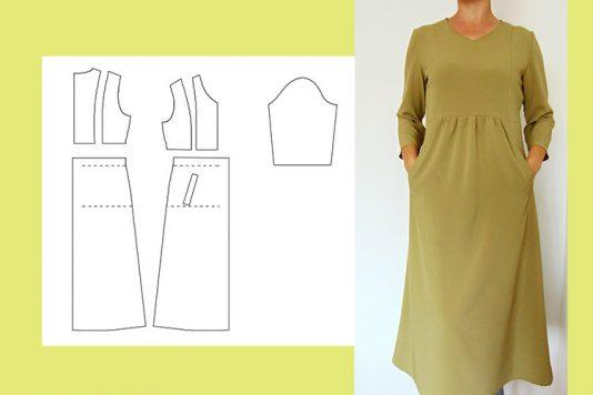 Выкройки платьев с рукавами-воланами | Образец моды, Выкройки и ... | 356x534